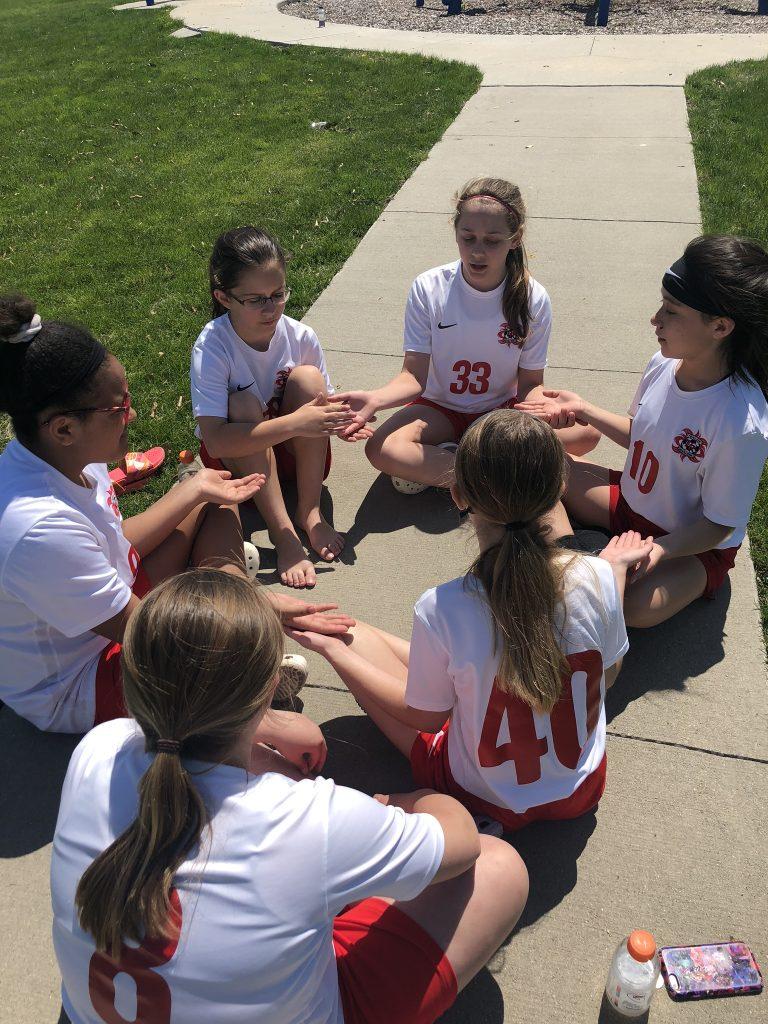 girls squad soccer friendship